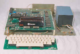 AIM65 mainboard, keyboard and power supply