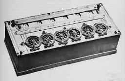 The Pascaline calculator (1642)